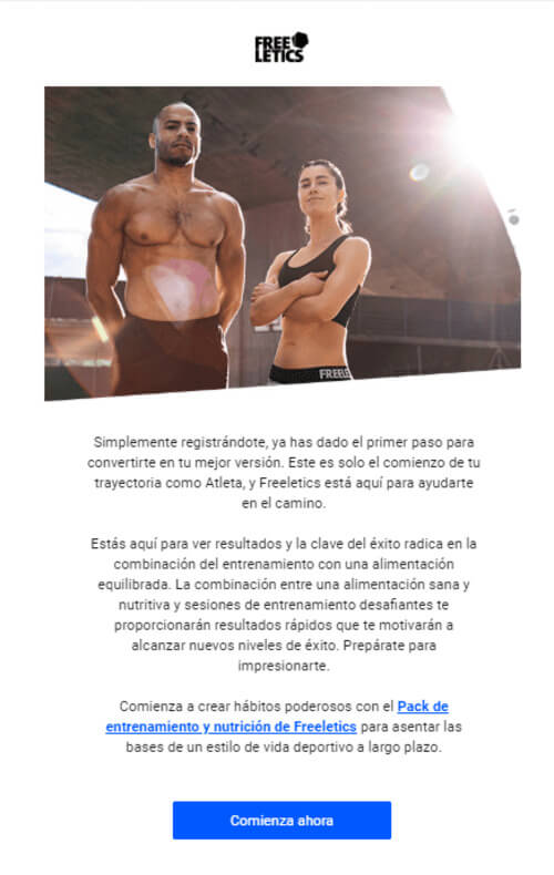 campañas email marketing ejemplos freeletics