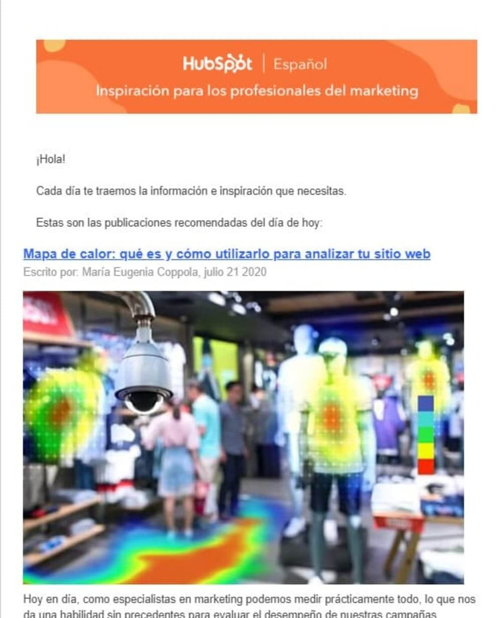 ejemplos campaña email marketing newsletter